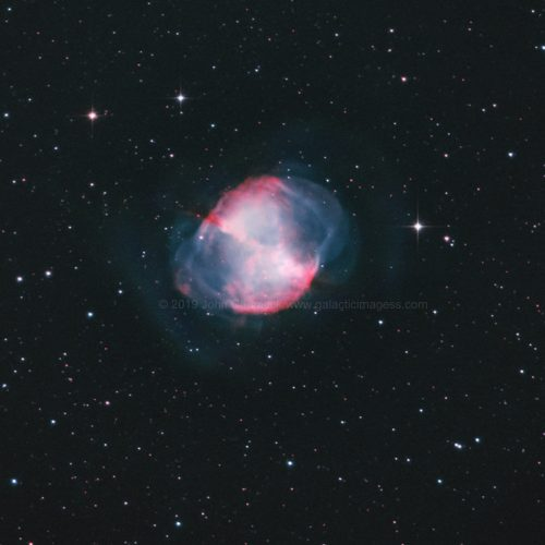 M27 The Dumbbell Nebula In Vulpecula
