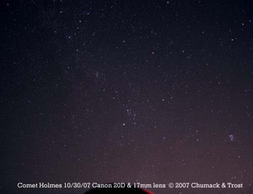 Comet 17P/Holmes Super Wide Angle 10/30/07