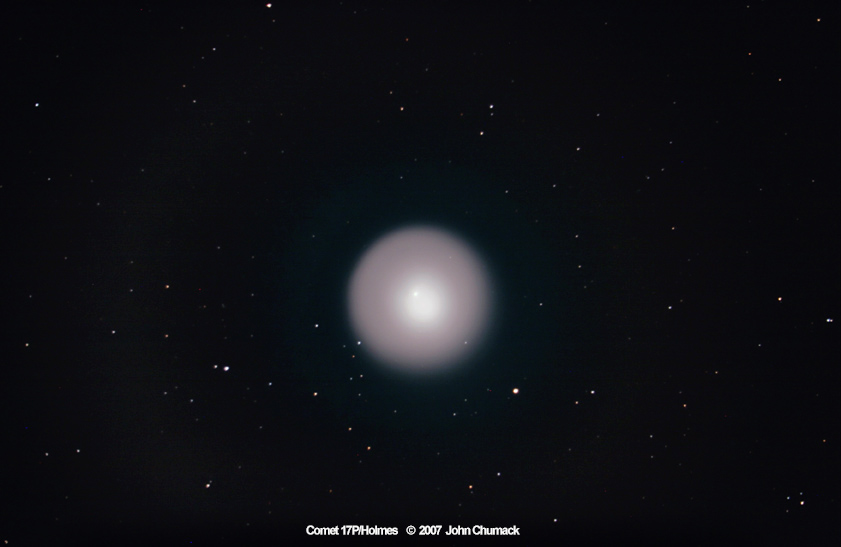 Comet 17P/Holmes Brightens Dramatically In Closeup Image On 10/29/07