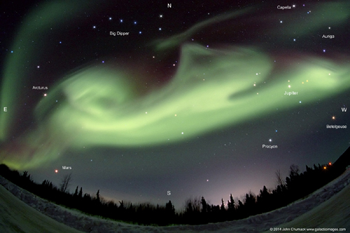 "Balto??? The ""The Northern Lights"" Aurora Dog jumping across the Sky with Stars/Planets"