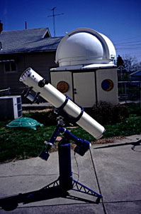 "6"" cave reflector & backyard observatory"