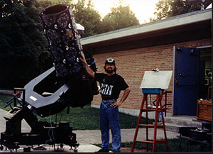 "My first Homemade 16"" Telescope 1989"