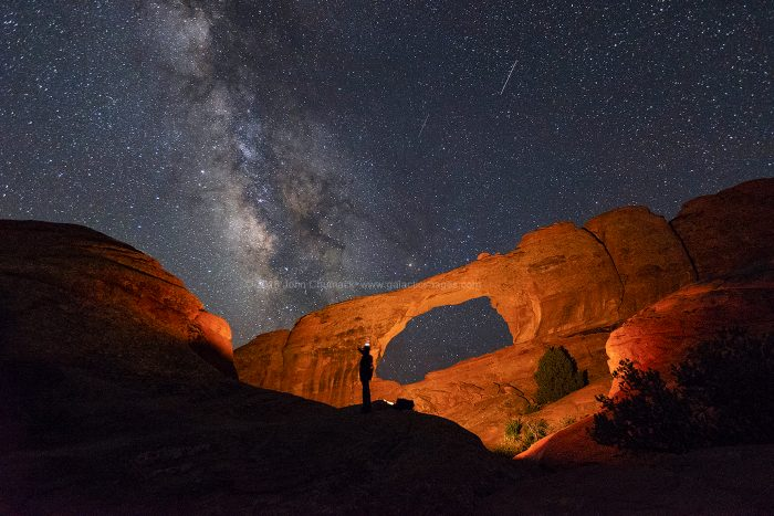 The Milky Way over Skyline Arch