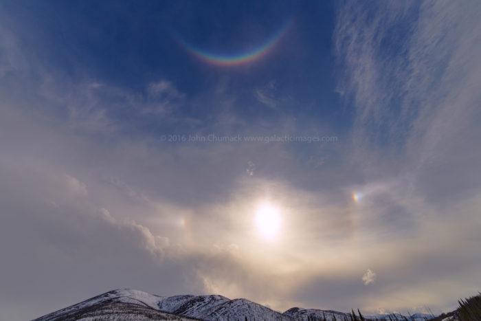 White Mountains Alaska 03-27-2016 Sun Dogs, Solar Halo, & Circum