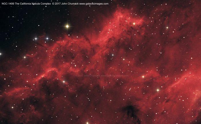 NGC1499 The California Nebula Complex Close-up
