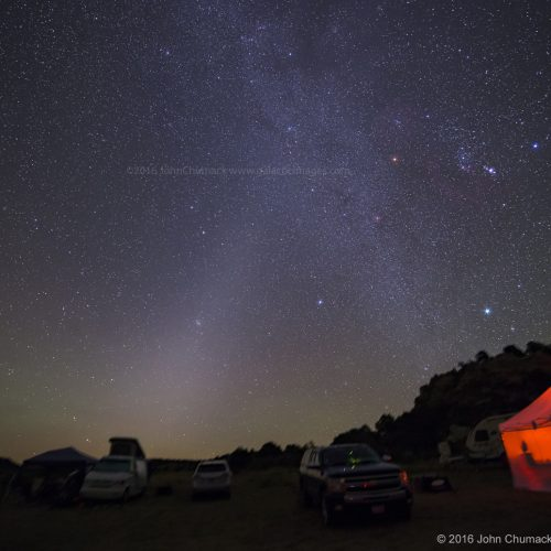 Zodiacal Light and the Winter Triangle, The constellation of Orion & Sirius brightest star in the sky!