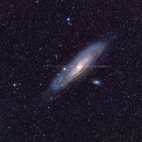 M31, M32, M110 The Andromeda Spiral Galaxy Wide Angle
