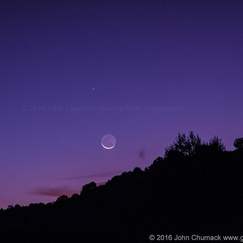 The Planet Mercury & 2.2 percent Lit Waning Crescent Moon