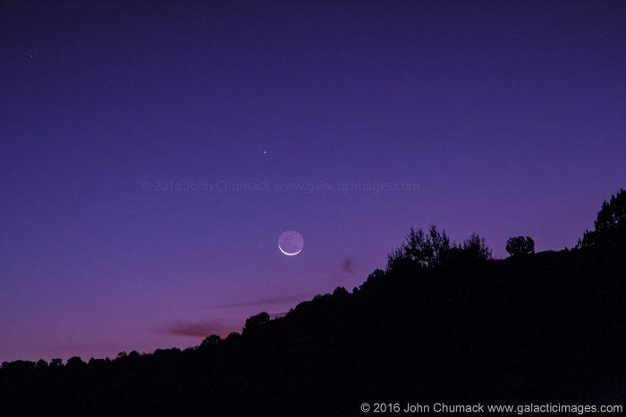 The Planet Mercury & 2.2 percent Lit Waning Crescent Moon