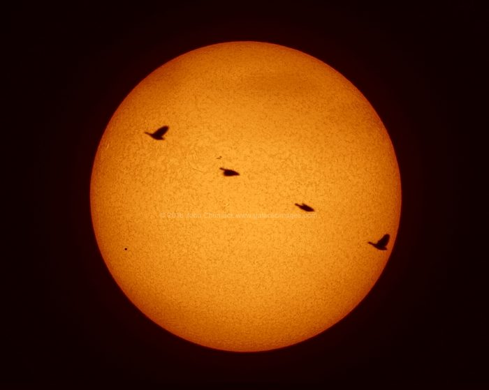 The Planet Mercury & Bird of Prey Transit of 05-09-2016