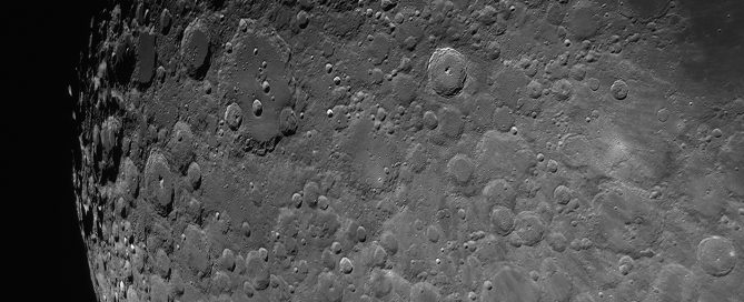 The Rugged Lunar Highlands near the South pole region with Impact crater Tycho(top center) & Impact crater Clavius(top left)