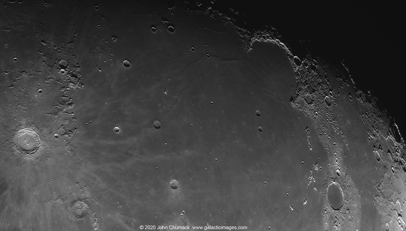 The Imbrium Triangle Copernicus Crater(left) to The Bay of Rainbows (upper right) to Plato (Lower right). Mare Imbrium (Sea of Rains)