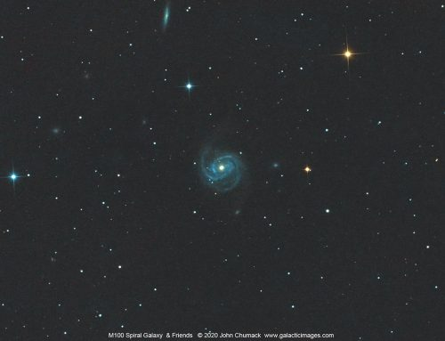 M100 Spiral Galaxy and Friends