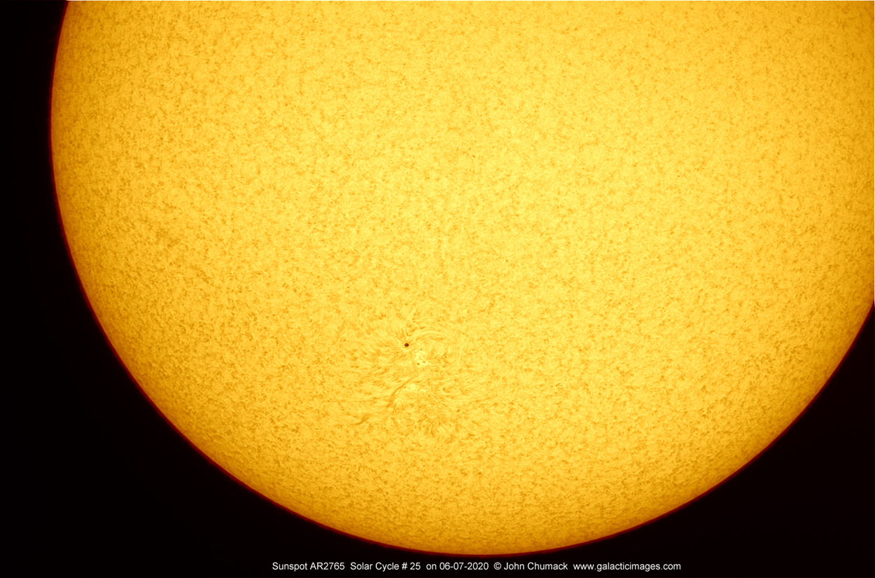 The Sun & Sunspot AR2765