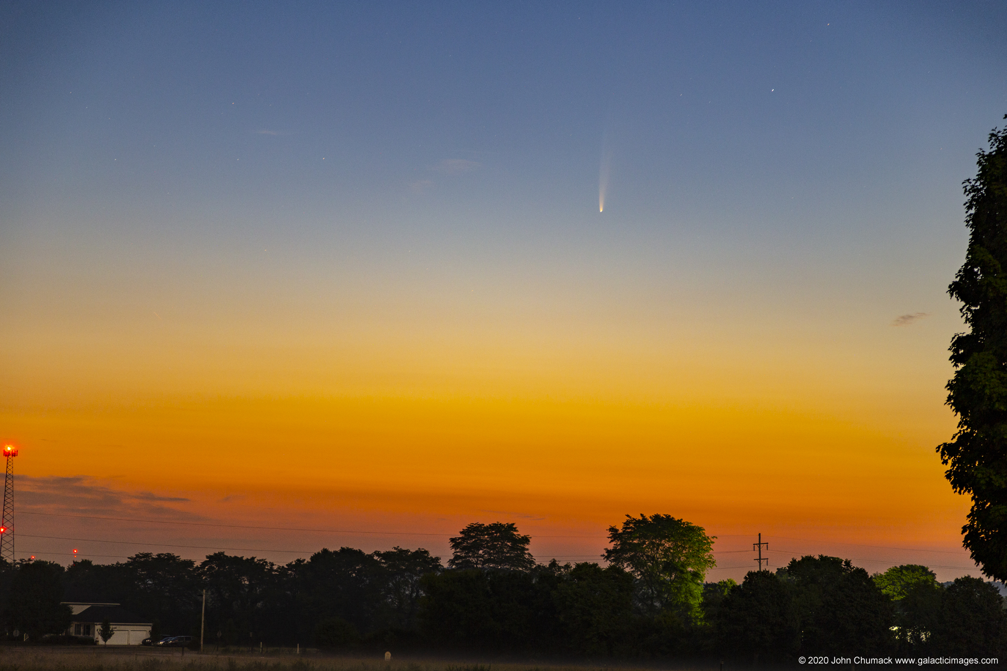 Comet NEOWISE on 07-08-2020