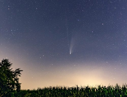 Comet NEOWISE and The Big Dipper over an Ohio Cornfield