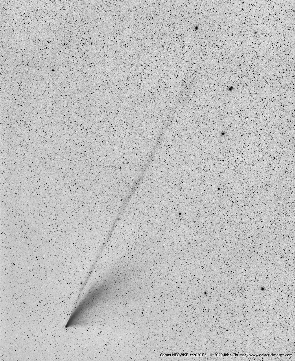 Comet NEOWISE c/2020 F3, as it moved past the Big Dipper