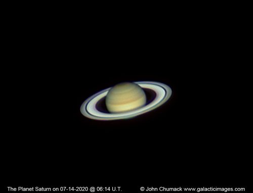 The Planet Saturn on 07-14-2020