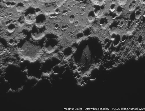 "Maginus Crater and ""The Arrow Head"""