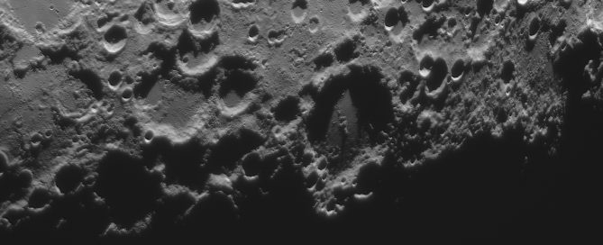 Maginus Crater and the Arrow head /spear head shadow feature