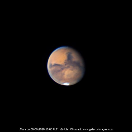 The Planet Mars Close-up on 09-06-2020