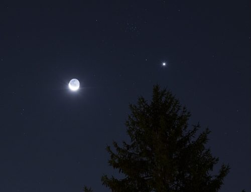 The Moon, Venus, & M44 The Beehive Cluster