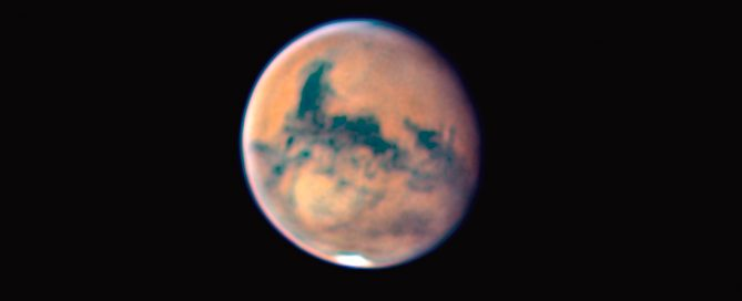 The Planet Mars Close-up on 09-10-2020