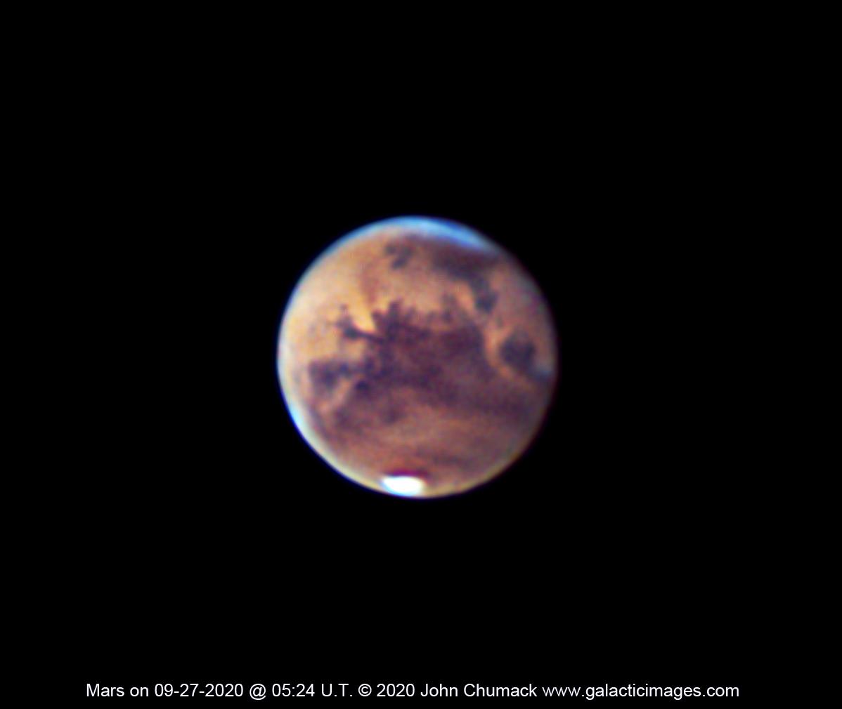 Mars on 06-27-2020 Nearing Opposition, Valles Marineris