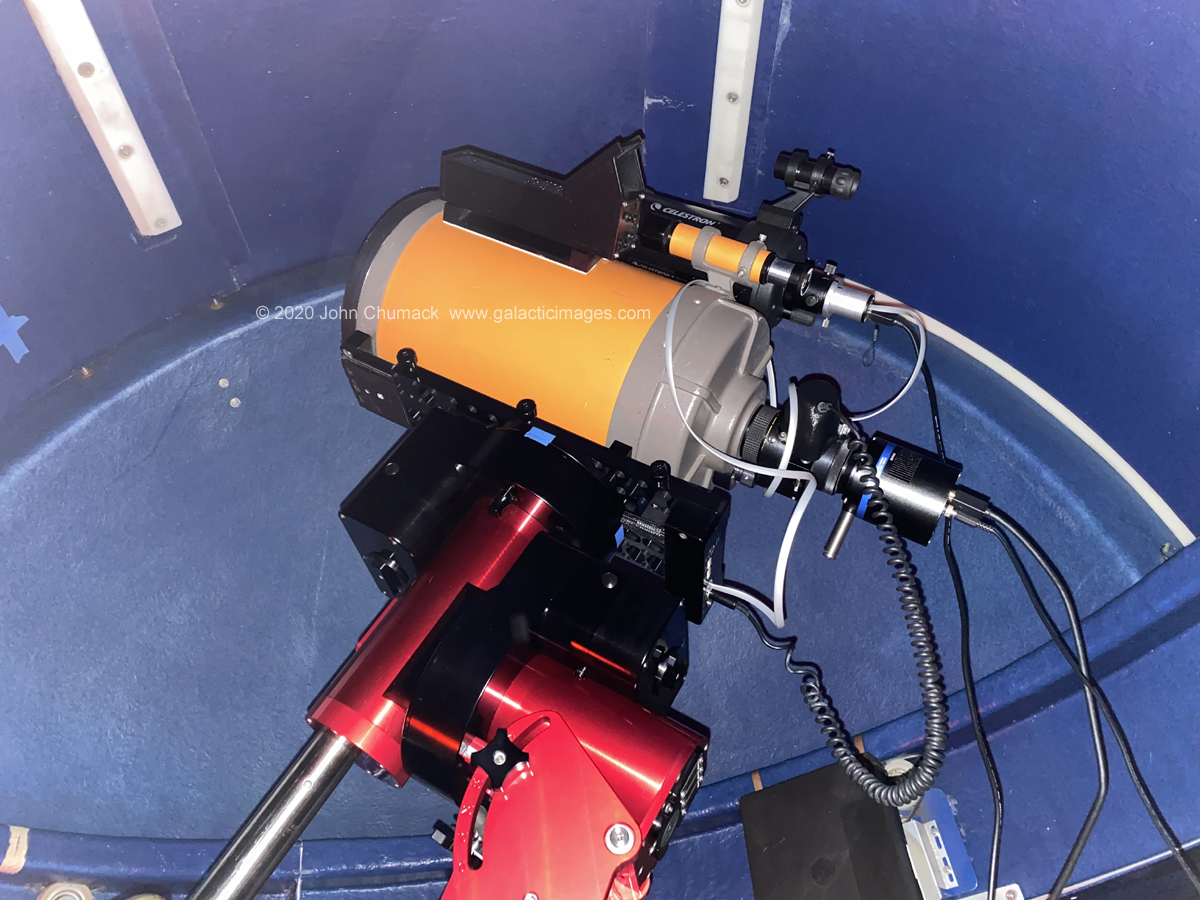 Old Orange tube C8 telescope