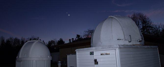 Jupiter & Saturn Conjunction Above Domes