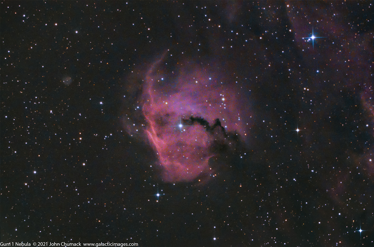 Gum 1 - The head of the Seagull Nebula