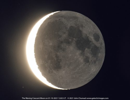 The Waning Crescent Moon with Earthshine on 01-10-2021