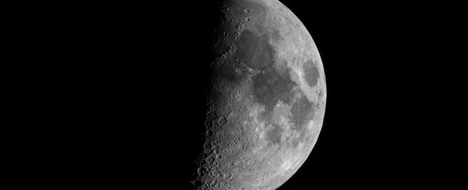 First Quarter Moon on 02-19-2021