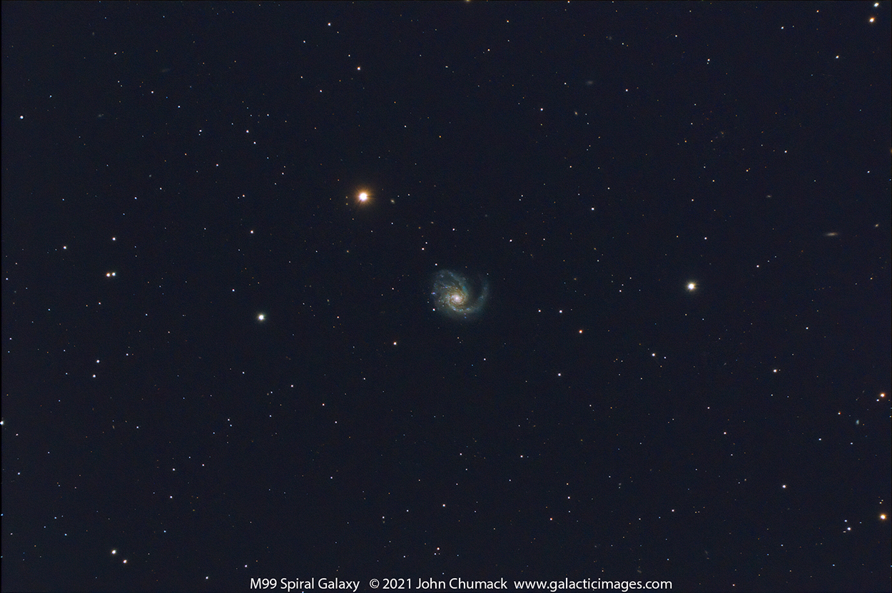 M99 Spiral Galaxy in Coma Berenices