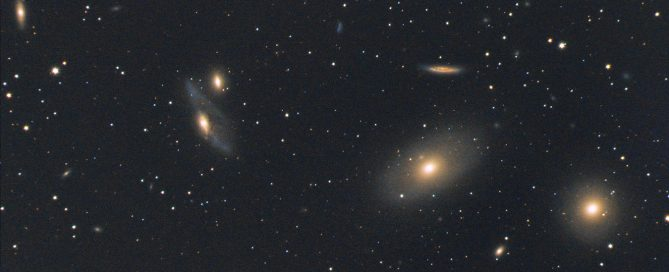 The Virgo Galaxy Cluster Core - M86 and M84 Elliptical Galaxies