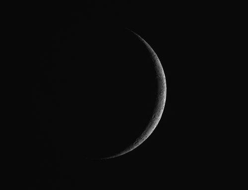 The Thin Waxing Crescent Moon / Earthshine