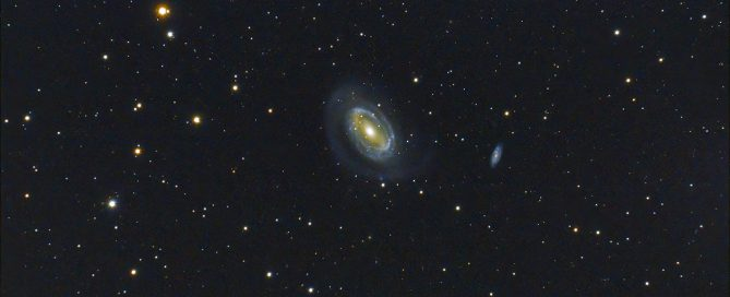 NGC 4725 barred spiral galaxy in Coma Berenices