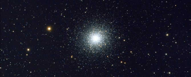 Messier 13 or M13, The Great Globular Cluster in Hercules or the Hercules Globular Cluster.