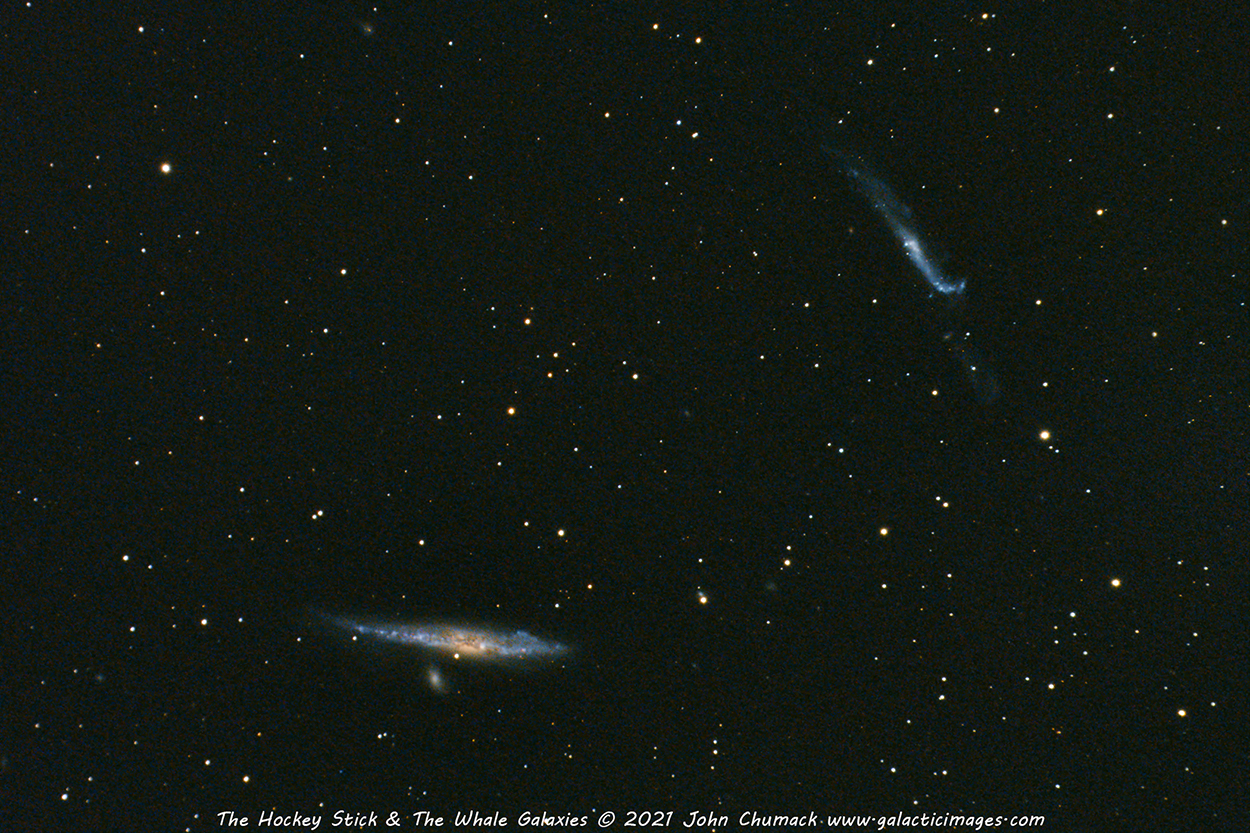 The Hockey Stick Galaxy and The Whale Galaxy