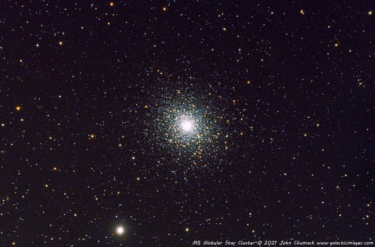 Messier 5 or M5 Globular Star Cluster in the Constellation Serpens