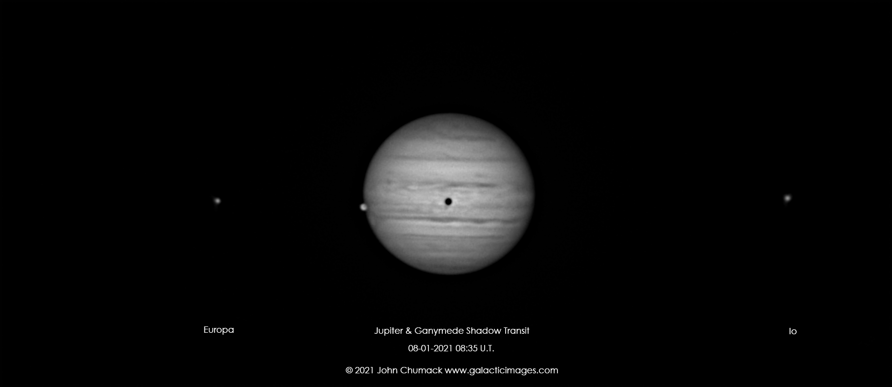 Jupiter with its Moon Ganymede with Shadow Transit