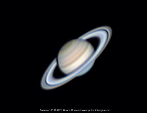 The Planet Saturn on 08-20-2021