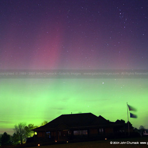 Aurora Borealis Photo over House