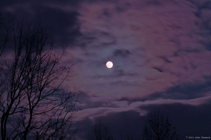 Cloudy Iridescence Full Moon Photos