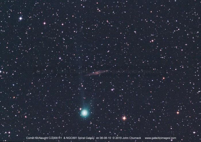 Comet McNaught R1 & NGC891