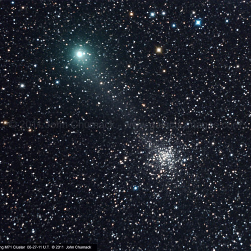 Comet Garradd Photos & M71 Globular Photos