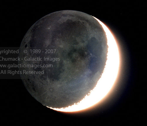 Earthshine Moon Photos