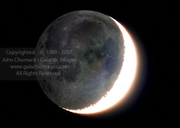 Earthshine Moon Photos
