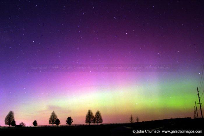 Aurora Borealis photo over Fairborn Farm1
