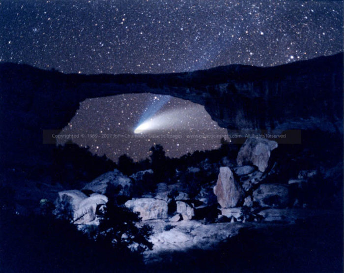 Comet Hale-Bopp photos under Natural Bridge